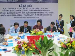 CONTRACT SIGNING CEREMONY OF 1,330 UNIT RESETTLEMENT...